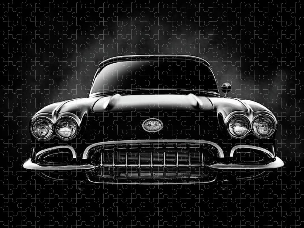 Corvette Puzzle featuring the digital art Circa '59 by Douglas Pittman