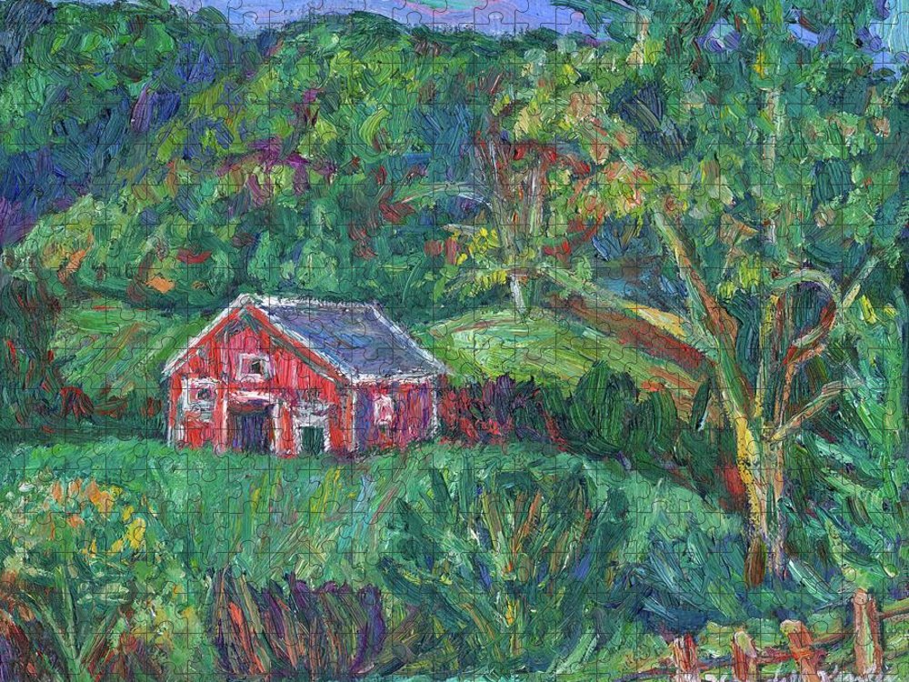 Rural Puzzle featuring the painting Clover Hollow in Giles County by Kendall Kessler