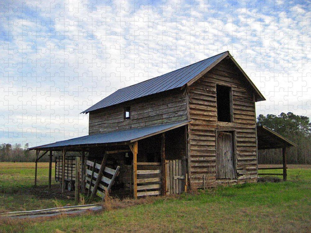 Barn Puzzle featuring the photograph Days Gone By by Suzanne Gaff