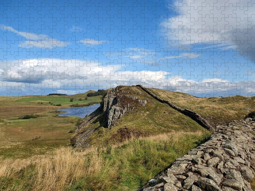 Landscape Puzzle featuring the photograph Hadrianswall by Pop