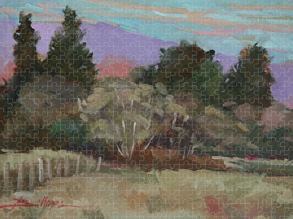 Northern California Puzzle featuring the painting Humbolt Fields by Betty Jean Billups