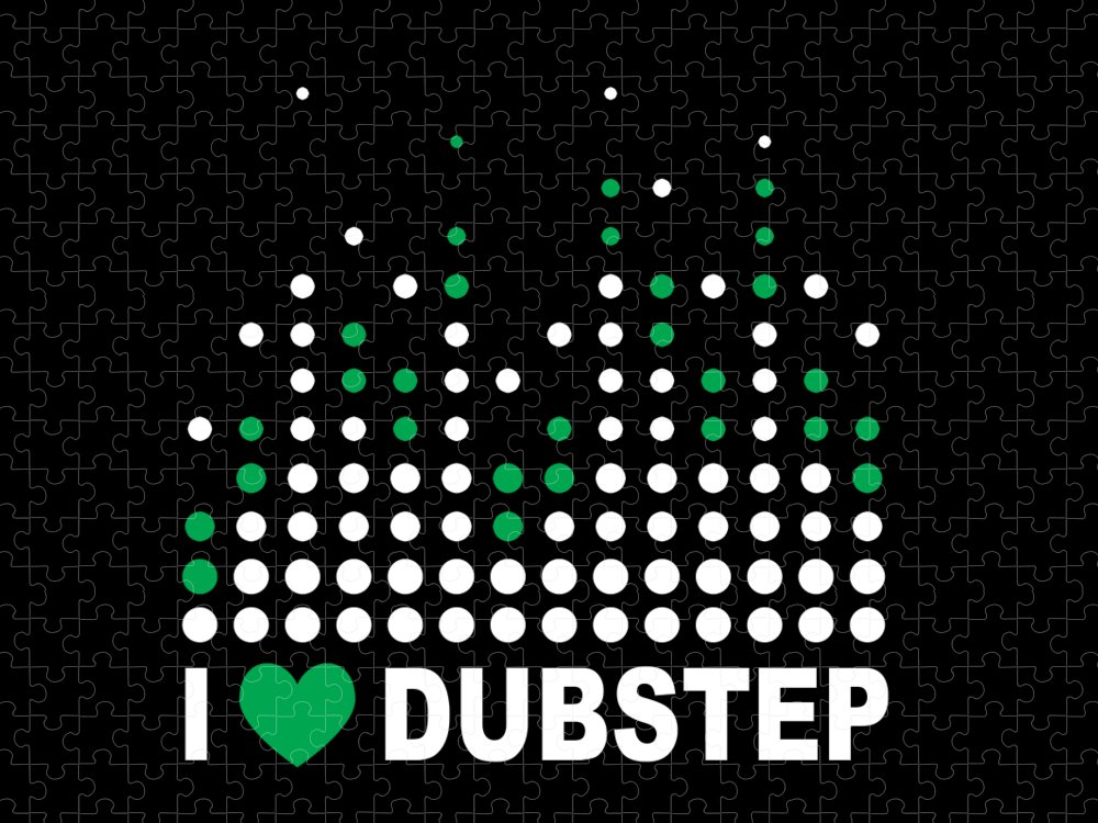 Electronic Dance Music Puzzle featuring the digital art I Heart Dubstep by Jacob Zelazny