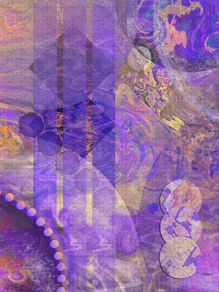 Lunar Impressions 2 Puzzle featuring the digital art Lunar Impressions 2 by Studio B Prints
