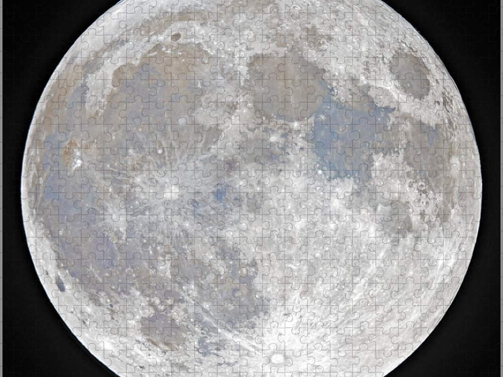 Fullmoon Puzzle featuring the photograph October 2020 Halloween Full/Blue Moon by Prabhu Astrophotography