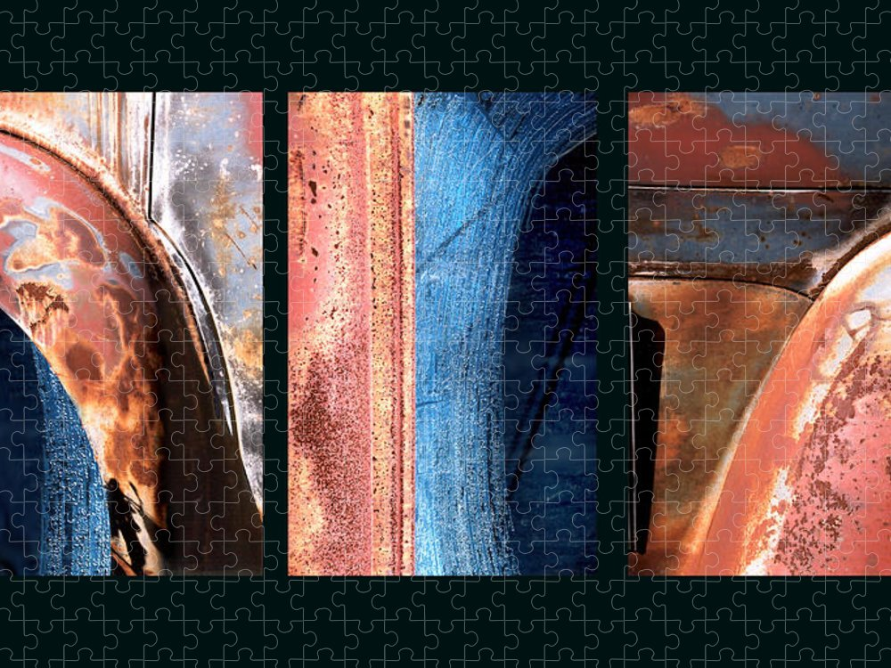 Abstract Puzzle featuring the photograph Ole Bill by Steve Karol