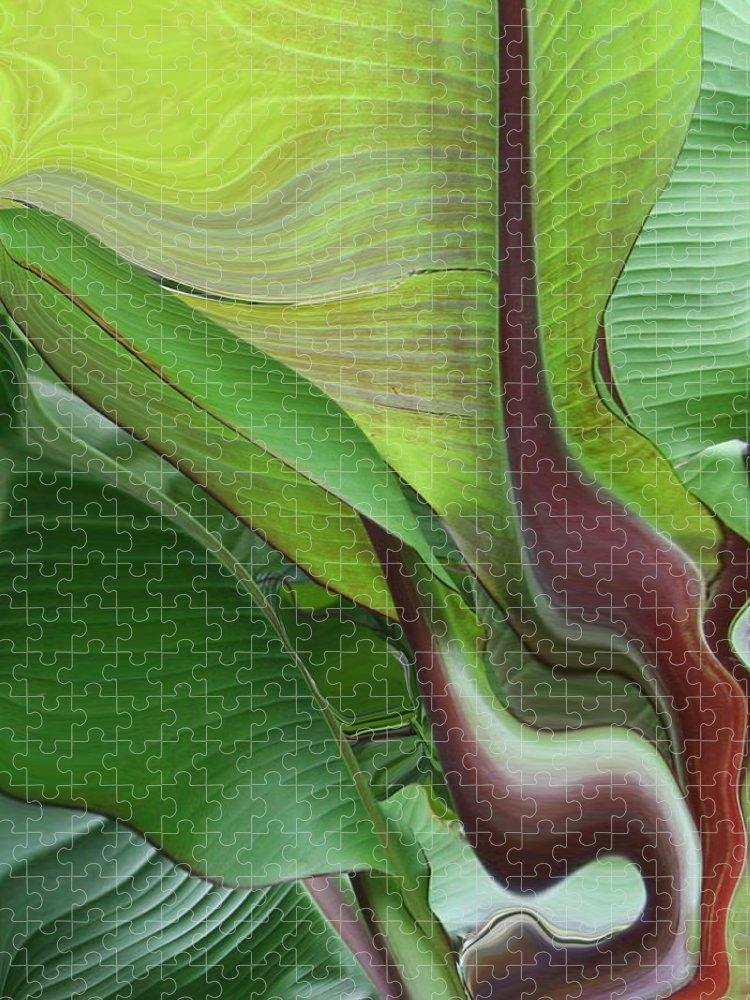 Plant Puzzle featuring the photograph Plantflow by Linda Sannuti