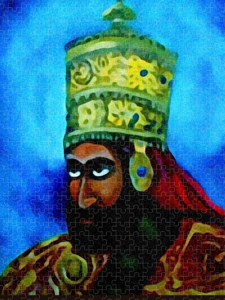 Painting Of Rastafari Puzzle featuring the painting Rastafari by Andrew Johnson