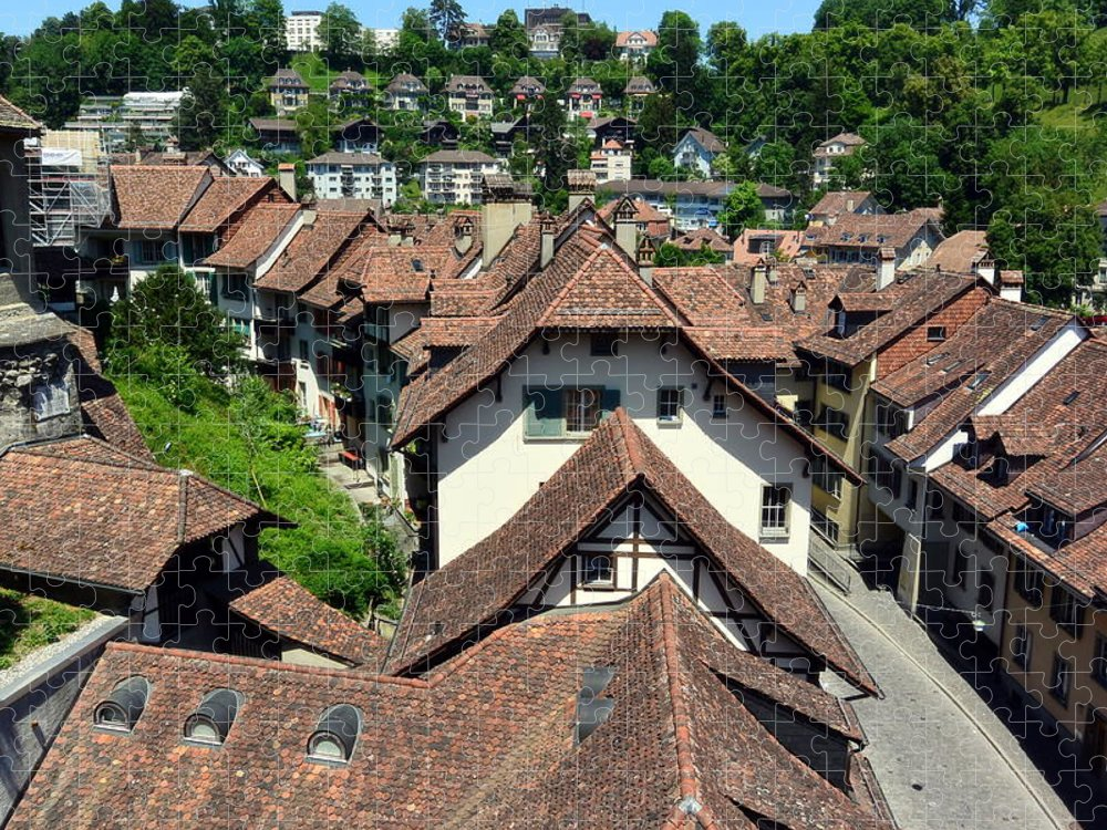 Red Rooftops Puzzle featuring the photograph Rooftops of Medieval Bern, Switzerland by Two Small Potatoes