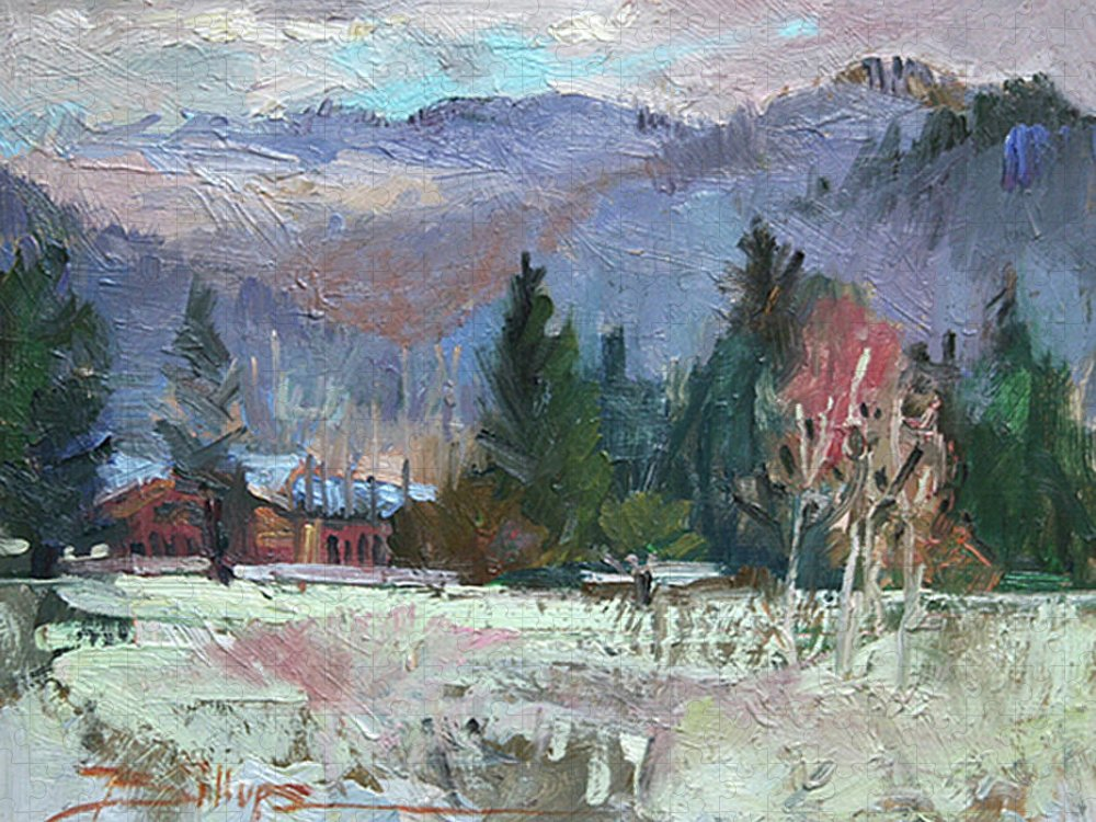 Plein Air Snow Scene Puzzle featuring the photograph Rough Winter by Betty Jean Billups