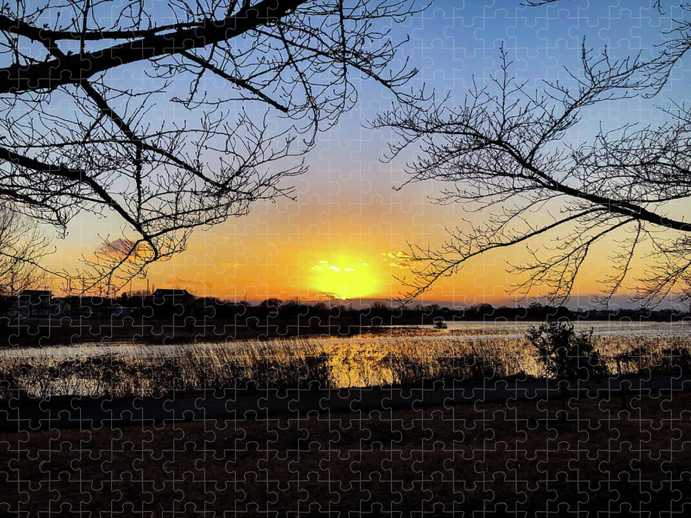 Sunset Puzzle featuring the photograph Tatebayashi Sunset by Kiyoto Matsumoto