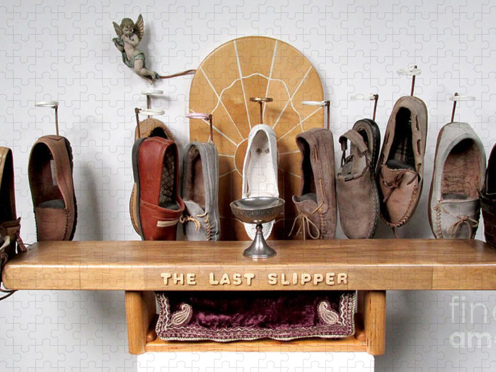 Czappa Puzzle featuring the sculpture The Last Slipper by Bill Czappa