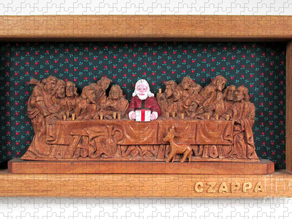 Czappa Puzzle featuring the sculpture The Last Supper  by Bill Czappa
