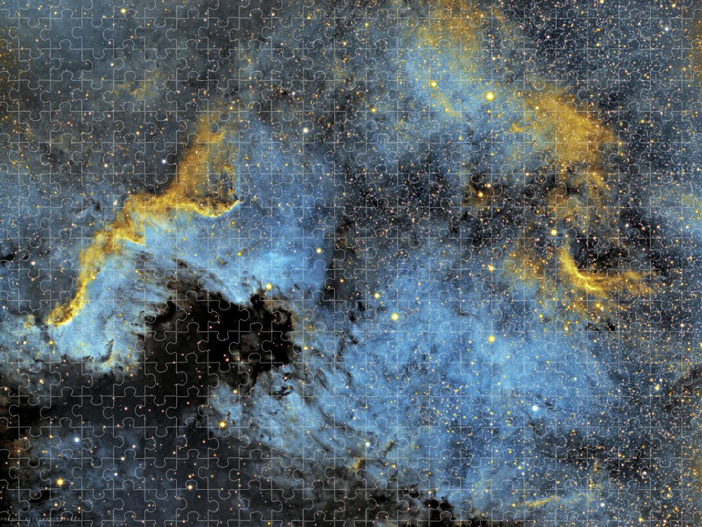 Nebula Puzzle featuring the photograph The North America Nebula by Prabhu Astrophotography