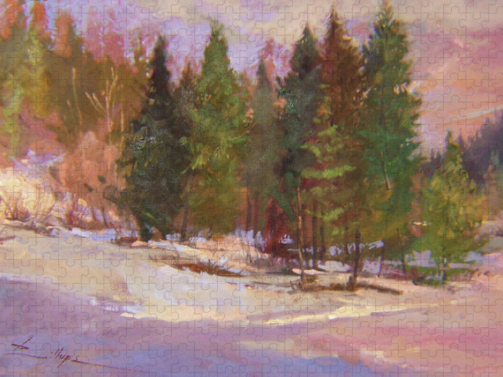 Plein Air Painting Puzzle featuring the painting The Road Home Plein Air by Betty Jean Billups