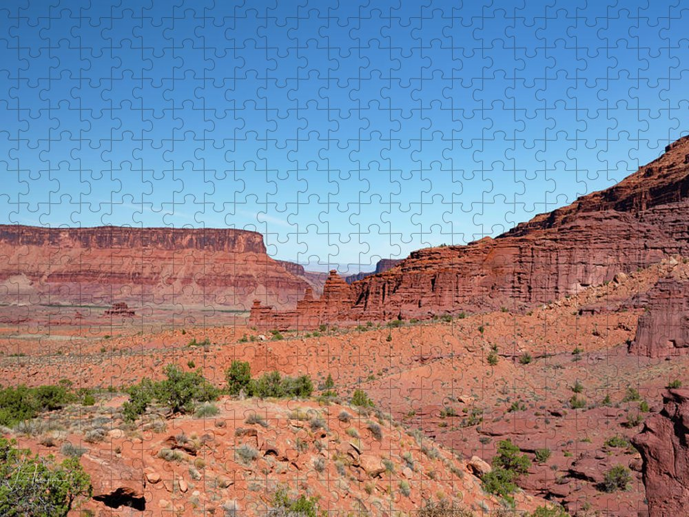 Fisher Towers Puzzle featuring the photograph Wild Utah Landscape by Jim Thompson