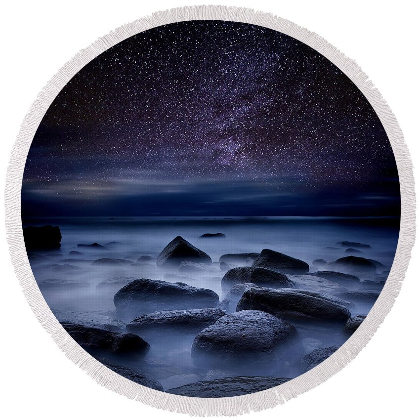 Night Round Beach Towel featuring the photograph Where Dreams Begin by Jorge Maia