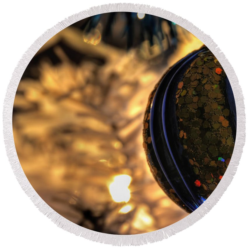 Round Beach Towel featuring the photograph 002 Silent Night Series by Michael Frank Jr