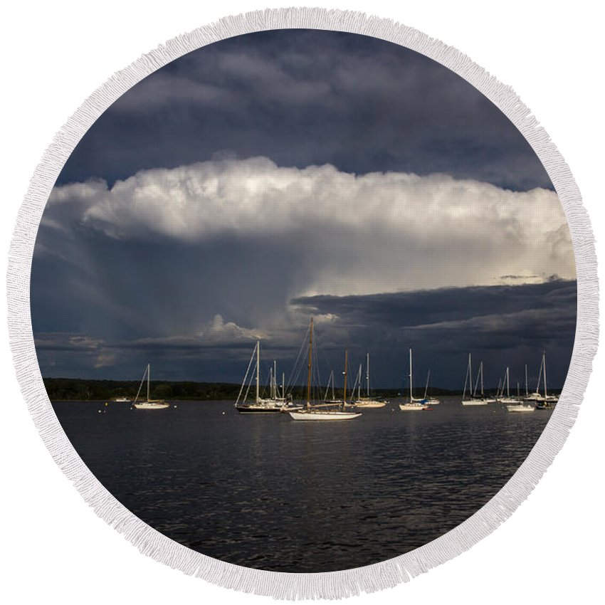 Water Round Beach Towel featuring the photograph After The Storm by Jonathan Steele