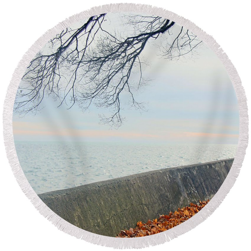 Centre Island Round Beach Towel featuring the photograph After The Storm by Munir Alawi