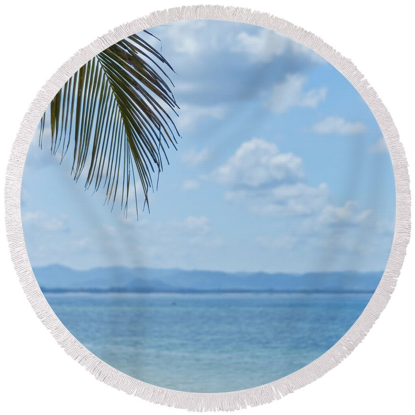 Sea Round Beach Towel featuring the photograph Beach Background by Antony McAulay