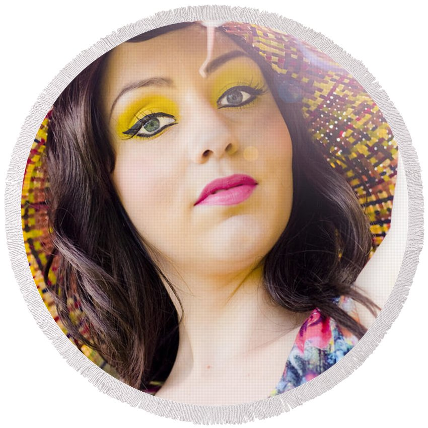 Caucasian Round Beach Towel featuring the photograph Being Your Own Person by Jorgo Photography - Wall Art Gallery