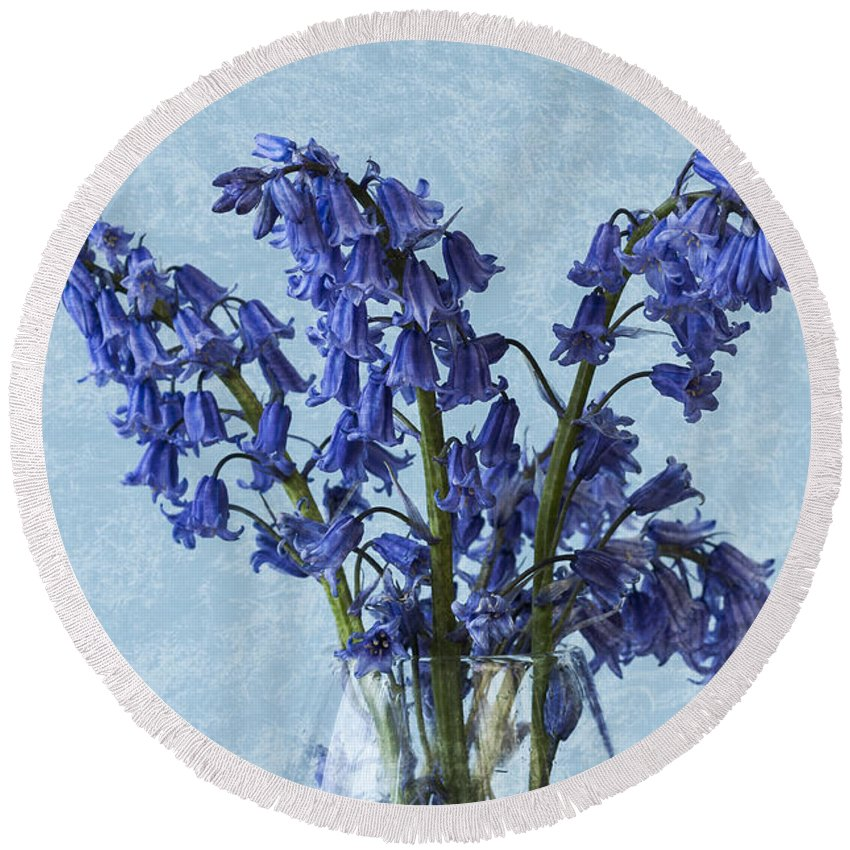 Bluebell Round Beach Towel featuring the photograph Bluebells 1 by Steve Purnell