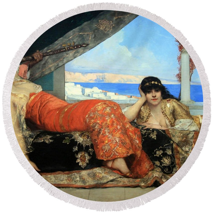 The Favorite Of The Emir Round Beach Towel featuring the photograph Constant's The Favorite Of The Emir by Cora Wandel