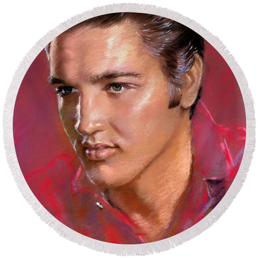 Elvis Rock Round Beach Towels