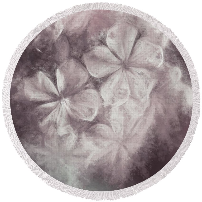 Floral Round Beach Towel featuring the digital art Fibonacci Flowers In Energy Manipulation Calculus by Jorgo Photography - Wall Art Gallery