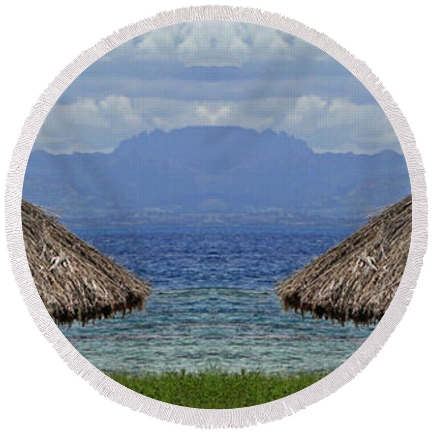 Fiji Round Beach Towel featuring the photograph Fiji by Ben Yassa
