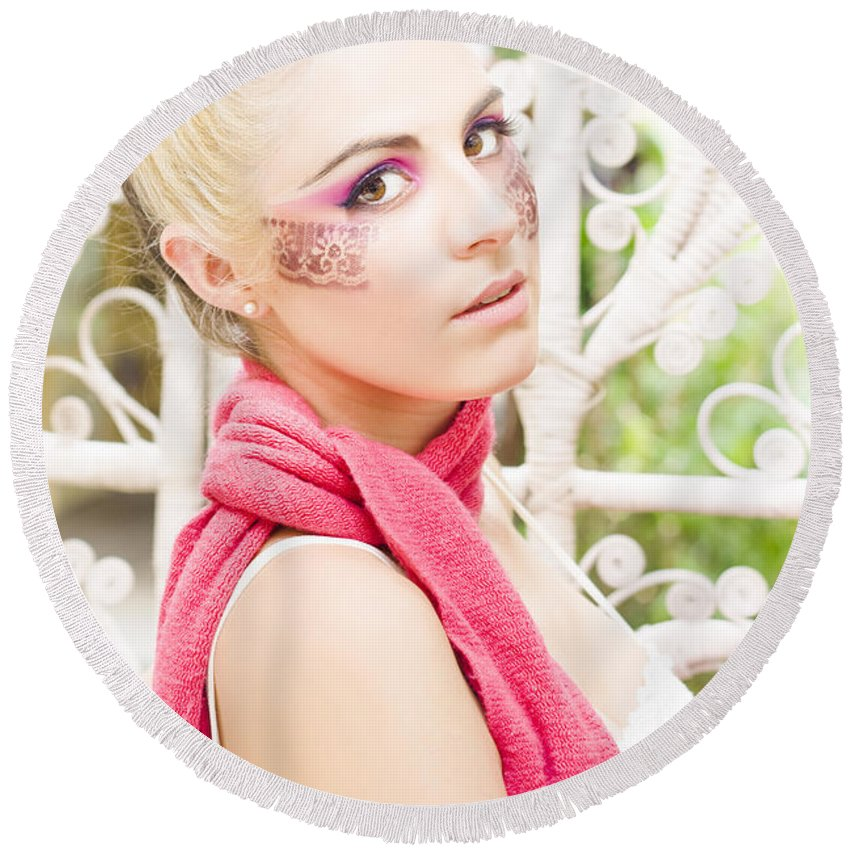 Attractive Round Beach Towel featuring the photograph Glamour by Jorgo Photography - Wall Art Gallery