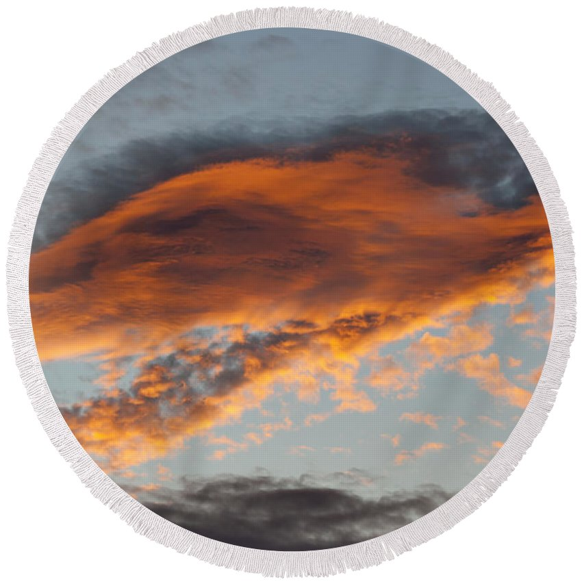 Sunset Round Beach Towel featuring the photograph Gloaming by Michal Boubin