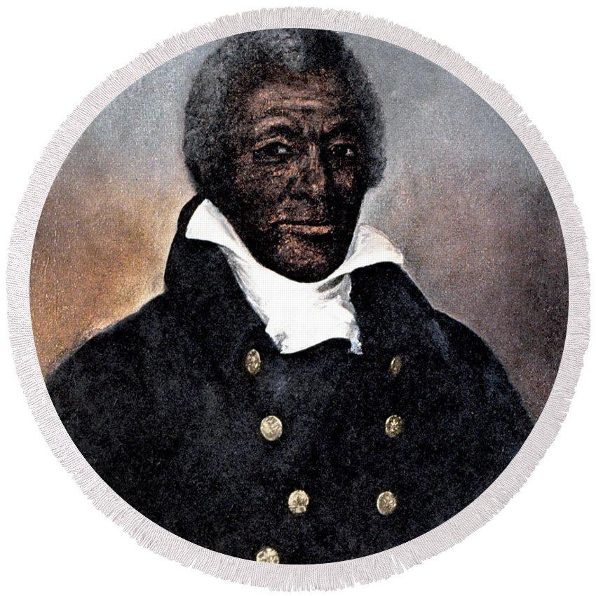 1824 Round Beach Towel featuring the photograph James Armistead Lafayette by Granger