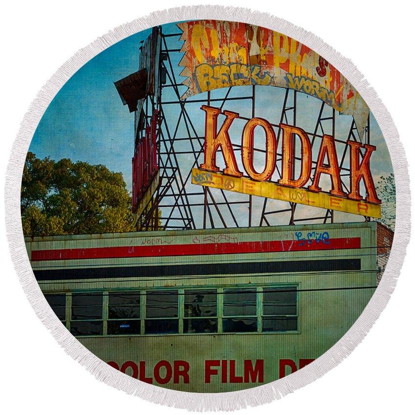 Kodak Round Beach Towel featuring the photograph Kodak's Moment by Doug Sturgess