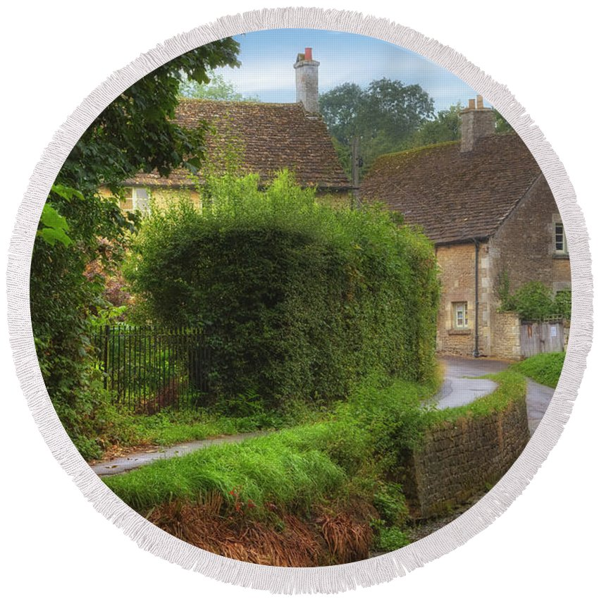 Lacock Round Beach Towel featuring the photograph Lacock by Joana Kruse