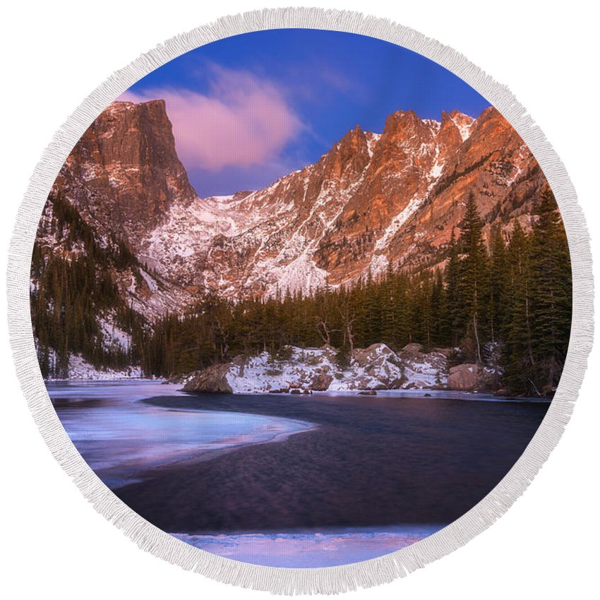 Lake Round Beach Towel featuring the photograph Lake Of Dreams by Darren White