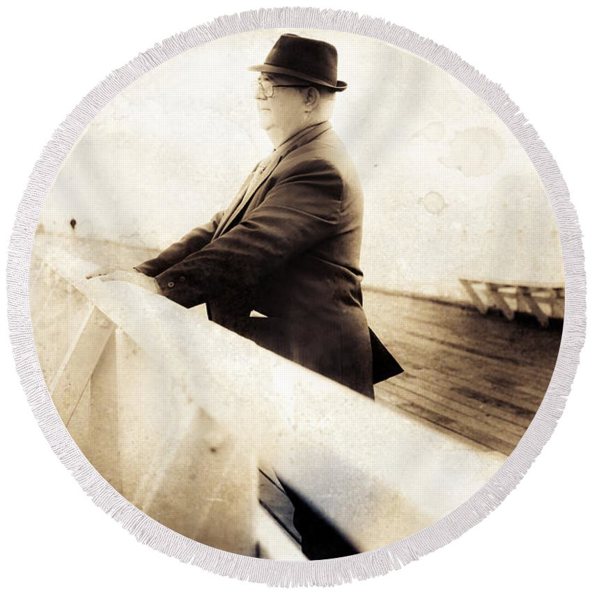 Person Round Beach Towel featuring the photograph Life Of Memoirs by Jorgo Photography - Wall Art Gallery