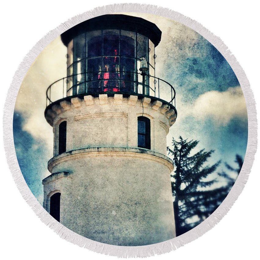 Light Round Beach Towel featuring the photograph Lighthouse by Jill Battaglia