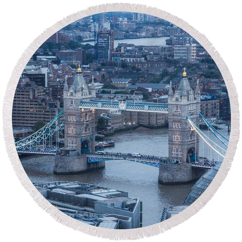 Tower Bridge Round Beach Towel featuring the photograph London Skyline by Keith Thorburn LRPS AFIAP CPAGB