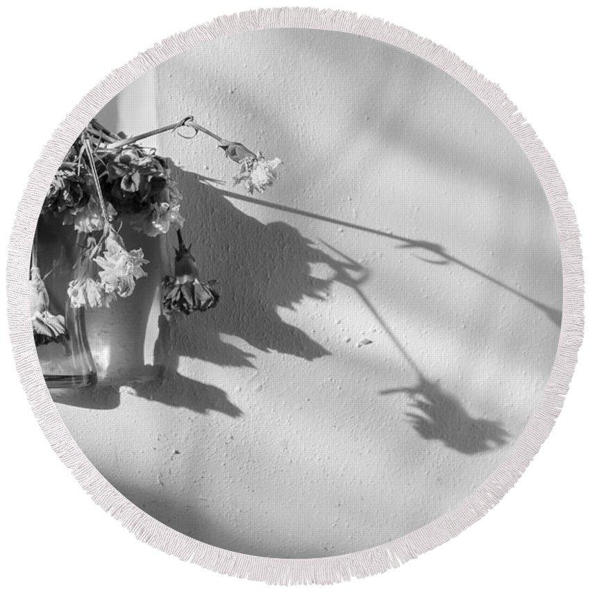 Dead Round Beach Towel featuring the photograph Long Shadows by Svetlana Sewell