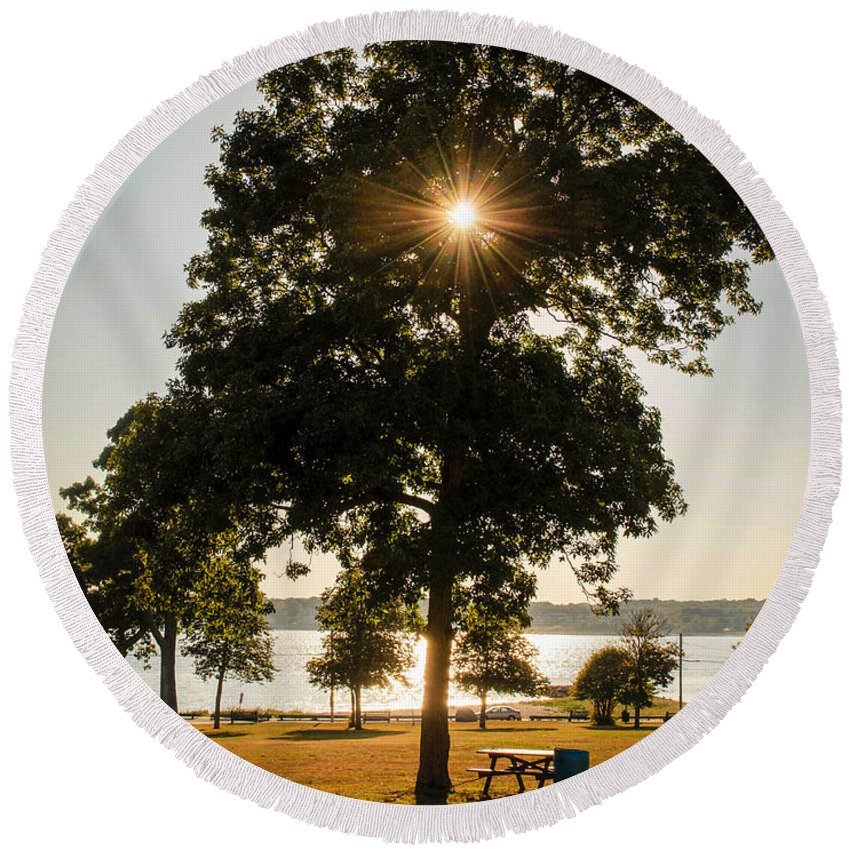 Hazelwood Round Beach Towel featuring the photograph New Bedford Massachusetts 2 by Andrea Anderegg