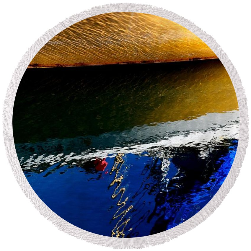 Abstract Round Beach Towel featuring the photograph New Day by Lauren Leigh Hunter Fine Art Photography