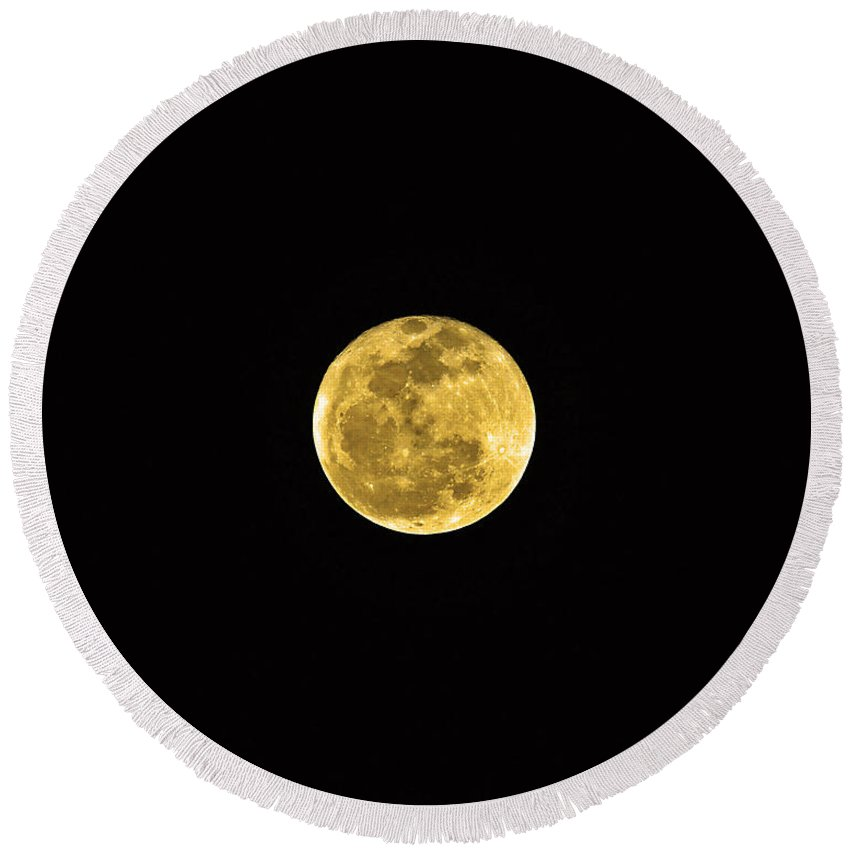 Moon Round Beach Towel featuring the photograph Passover Full Moon by Al Powell Photography USA