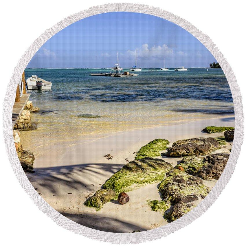 Punta Cana Beach Round Beach Towel featuring the photograph Punta Cana Beach by Viktor Birkus