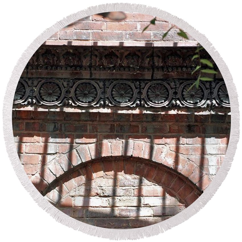 Brickwork Round Beach Towel featuring the photograph Side Street by Joseph Yarbrough