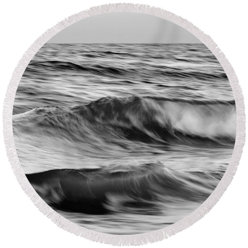 Laura Fasulo Round Beach Towel featuring the photograph Soul Of The Sea by Laura Fasulo