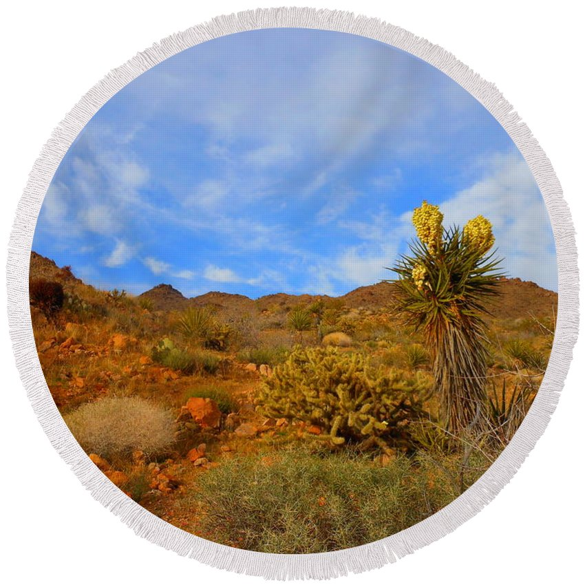 Landscape Round Beach Towel featuring the photograph Springtime In Arizona by James Welch