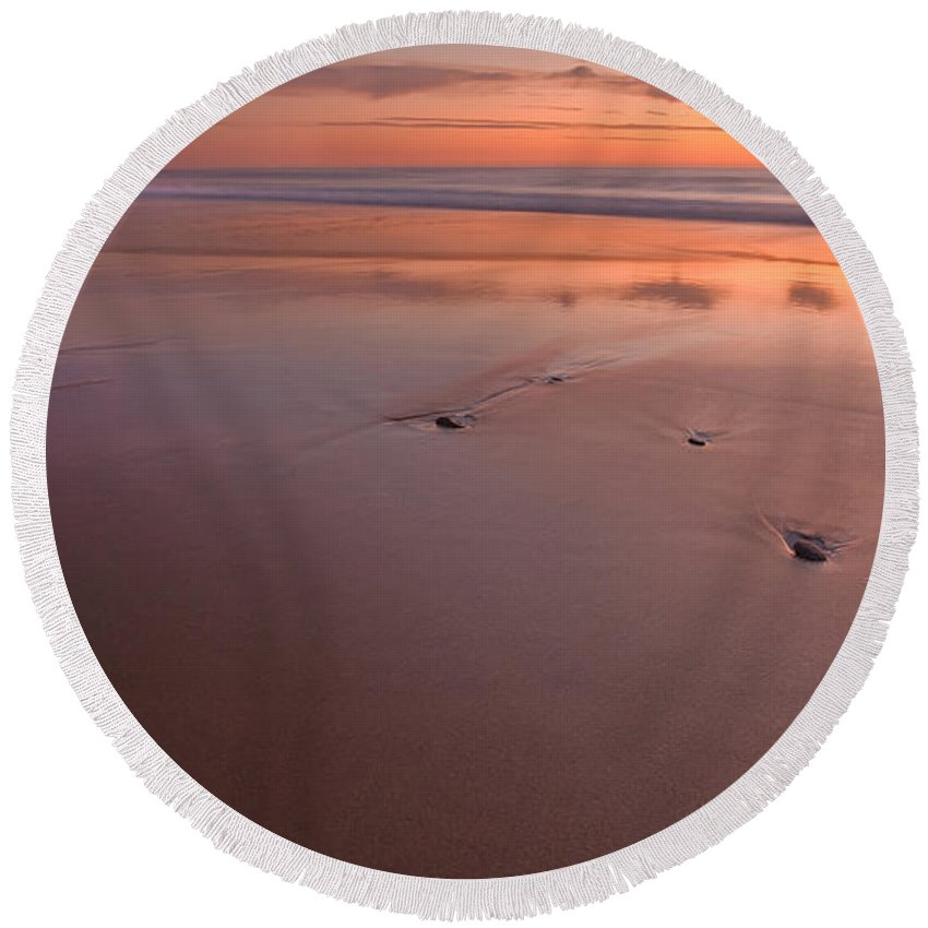 Cape Cod Round Beach Towel featuring the photograph Steppin' Stone by Bill Wakeley