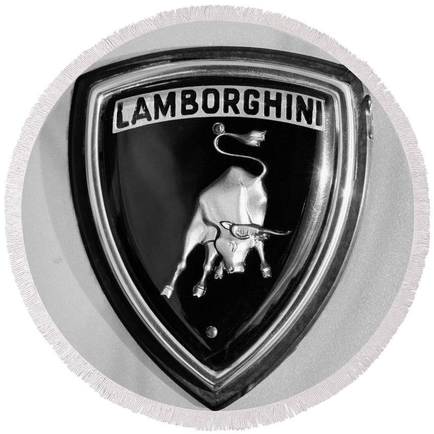 Lamborghini Emblem Round Beach Towel For Sale By Jill Reger