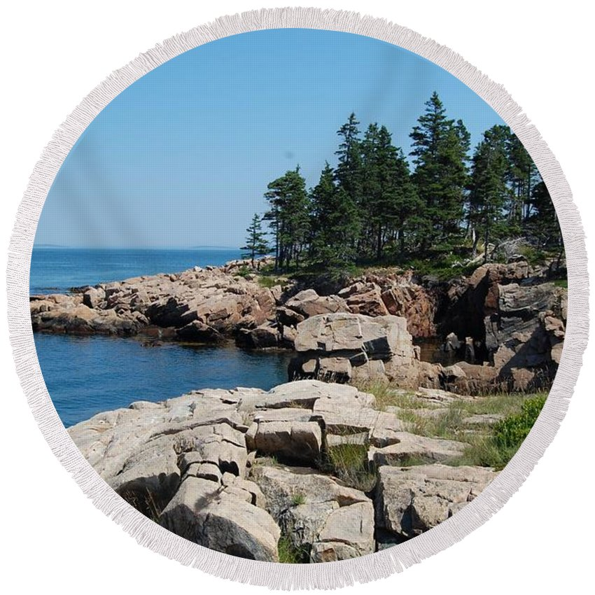 Sea Round Beach Towel featuring the photograph Landscape by FL collection